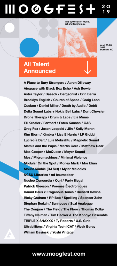 line up moogfest
