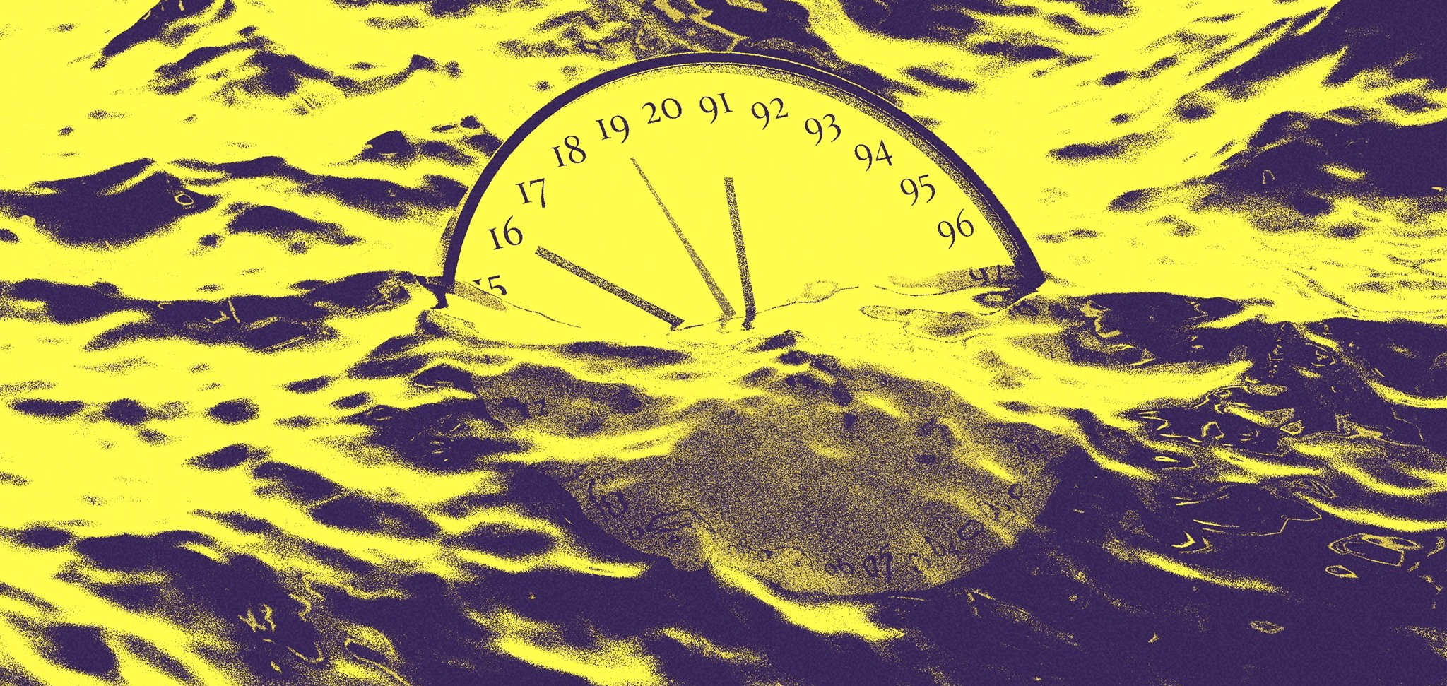 clock in the wave